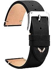 TStrap Cinturino Pelle 20mm - Cinturini per Orologio Nero – Uomo Donna - 18mm 19mm 20mm 22mm