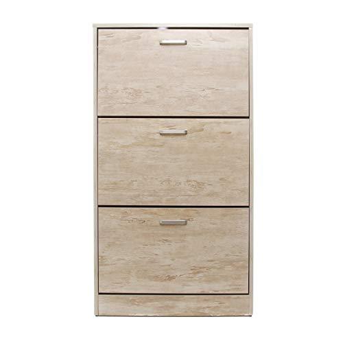 Scarpiera in legno, da 60X23,5X110 cm Legno Chiaro