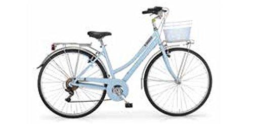MBM Central, Bicicletta da Trekking Donna, Blu (Azzurro A25), 28'