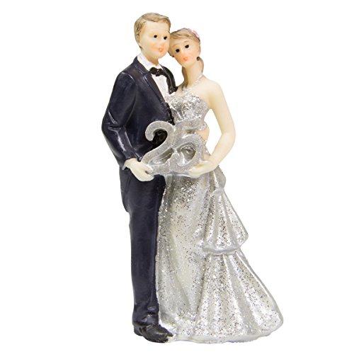 Statuetta coppia di sposi nozze d'argento 25 anni