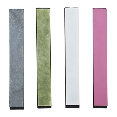 Whetstone 4 unids/set piedra de afilar colorida con base antideslizante para afilar cuchillos afilador de cuchillos de ángulo fijo
