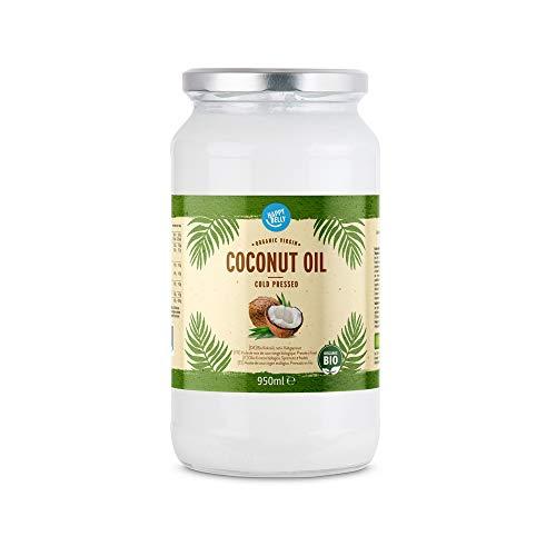 Marchio Amazon - Happy Belly - Olio di cocco biologico,...