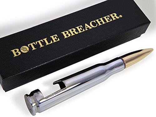 Chrome 50 Caliber Bottle Breacher Bottle Opener with Gift Box by Bottle Breacher