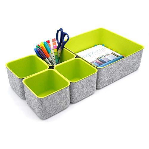 オフィス オルガナイザ アクセサリー収納 小物収納ケースボックス (春の緑)