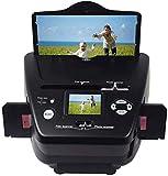 Escáner de película fotográfica y de Amplificador 4 en 1 Escáner de 35 mm / 135 de Diapositivas negativas Escáner de Alta resolución Tarjeta de Nombre de Foto Convertidor de película a Digital para