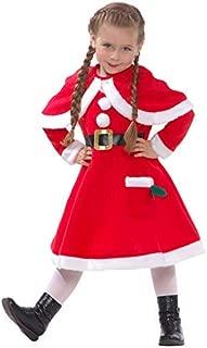 Morph Girls Mrs Claus Costume Santas Little Helper Kids Miss Christmas Dress Outfit – Large (Age 9-11)