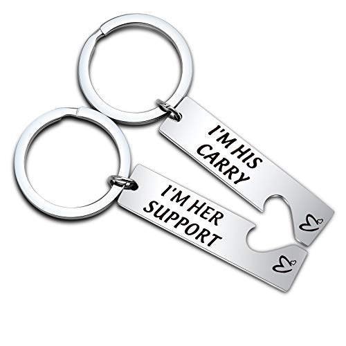 League of Legendas lnspired Support and Carry Keychain Set (I'M HER SUPPORT I'M HIS CARRY Set)