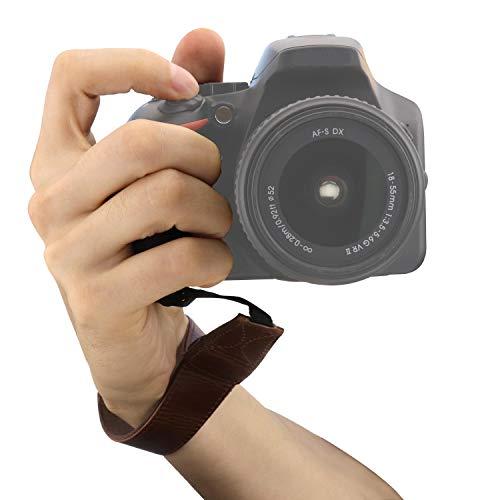 MegaGear MG1411 - Correa de muñeca para cámara réflex SLR y DSLR, Color marrón Oscuro