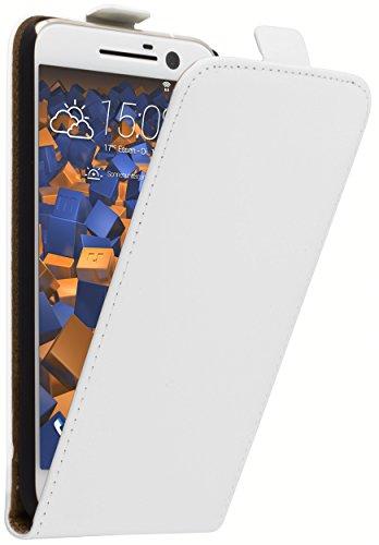 mumbi Tasche Flip Case kompatibel mit HTC 10 Hülle Handytasche Case Wallet, weiss