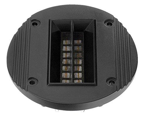 Monacor RBT-95 bandjes-tweeter, ribbon-luidspreker voor een luchtige en vervormingsarme weergave, audio-versterker voor zelfmontage in een boxbehuizing, in zwart