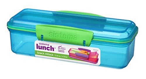 Sistema Lunch Snack Attack - Fiambrera, 410ml, plástico, 19 x 7.8 x 5.85 cm