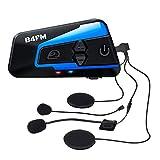 LX-B4FM バイク インカム 4riders 4人同時通話 FMラジオ Bluetooth防水インターコ バイク用インカム スマホ音楽再生 Siri/S-voice IP67防水 無線機いんかむヘルメット用インカム 連続15時間の長時間通話 インカムバイク 2種類マイク 日本語説明書 認証済み
