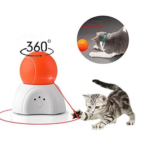 Nice Dream Automatisches Katzenspielzeug, interaktives Jagdspielzeug für Katzen, rotierendes Fangtraining, 3 Geschwindigkeiten, Orange Ball