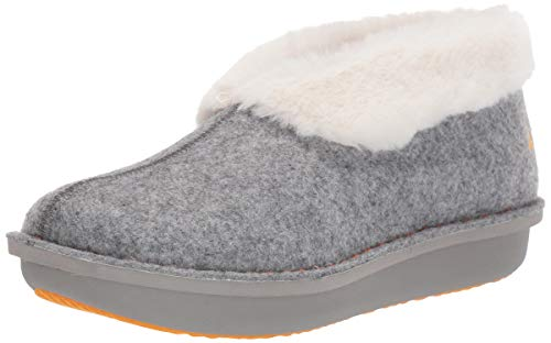 Clarks Women's Step Flow Low Slipper, Grey Felt, 8 M US