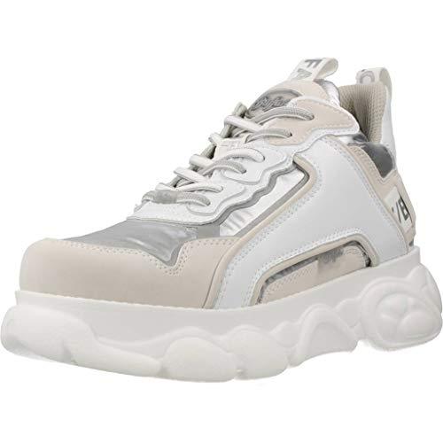 Buffalo Damen Sneaker CLD CHAI, Frauen Low Top Sneaker, Wedge-Sneaker keil-Absatz Lady Ladies feminin elegant Women's,Silber(Silver),40 EU / 6.5 UK