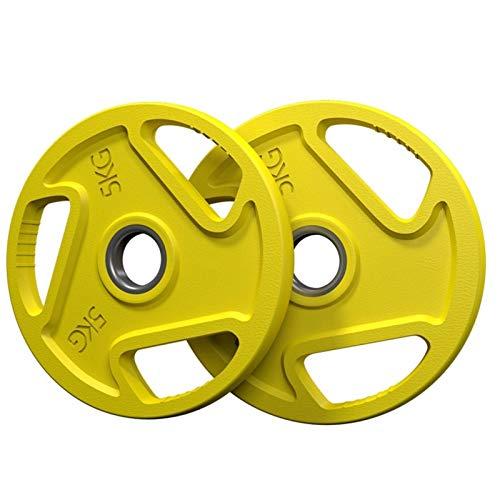 Ownlife 2.5kg / 5kg / 10kg / 15kg / 20kg Wettbewerb Gummi Fraktionierte Gewichtsplatten Fitness Gewichtsplatten für Hantel- oder Hantel-Set von 2 (Größe : 5kg×2)