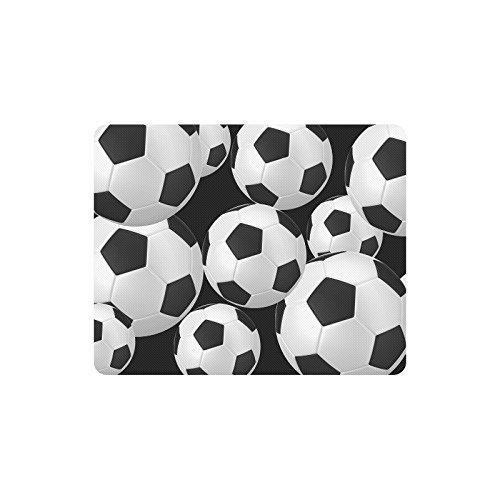 N\A Decoración Personalizada Pelotas de fútbol Frescas balones de fútbol Comodidad Funda de Tela Antideslizante Alfombrilla de ratón Rectangular