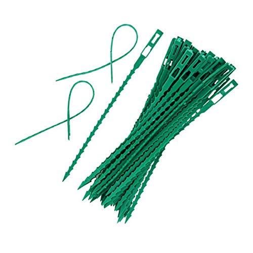 JZ Corbatas de jardín Verdes de 250 x, Tiras de Plantas Flexibles Ajustables, Corbatas de Giro de jardín multifunción, Corbatas de arbustos y Plantas Resistentes de plástico versátiles (17 cm, Verde)