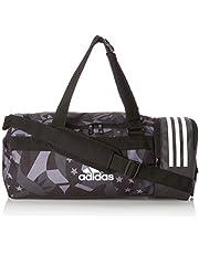 Adidas Convertible 3 Stripes Duffel Bag S Womens Graphic, unisex volwassenen, zwart wit, NS