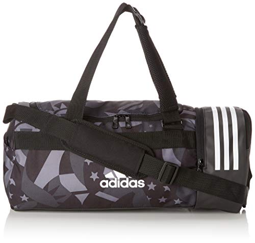 adidas Convertible 3 Stripes Duffel Bag S Womens Graphic, Unisex Adulto, Black/White/White, NS