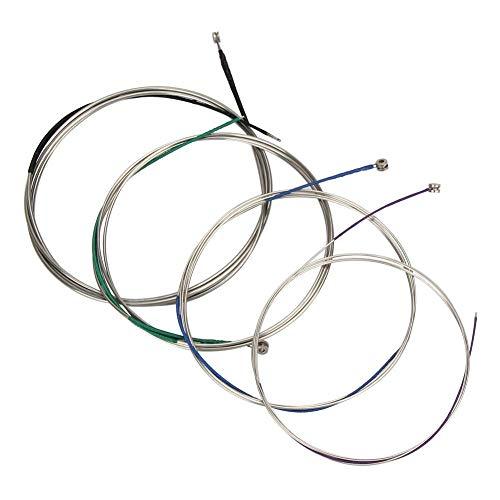 Imelod Cellosaiten Full Set (A-D-G-C) Universal Stahlkern Nickel-Chrom-umsponnen mit vernickeltem Kugelkopf für 4/4 3/4 1/2 1/4 Cello