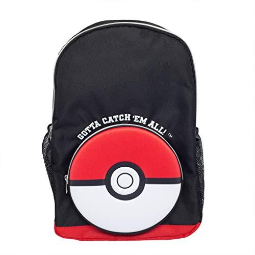 Pokemon Poke Ball Catch Em All Boys Backpack   Official Merchandise   Back to School, Kids Rucksack, Childrens Bags, Birthday Gift Idea for Boys