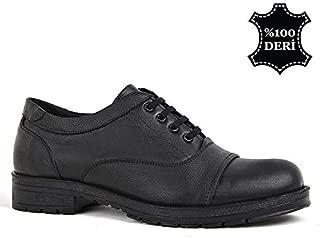 Kadı 1563 Siyah Günlük%100 Deri Rahat Erkek Ayakkabı