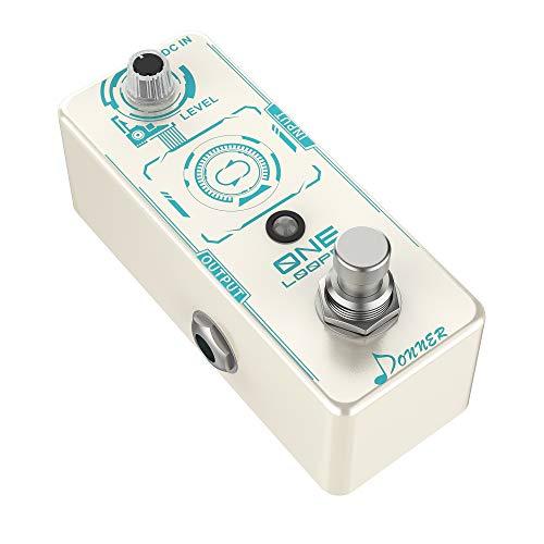 Donner ONE Looper Guitar Effects Pedal Loop Pedal, Looper Pedale Effetto per Chitarra 10 Minuti di Looping