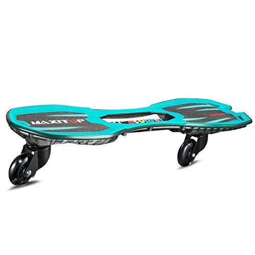 ZJJLZJ Waveboards, Kinder-Vitalitätsboard, zweirädriges Street-Swinging-Skateboard, Schwimmdrachen-Board-Flash-Pedal-Blau