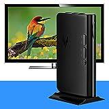 DAUERHAFT Equipo de TV AV a VGA Caja de TV portátil FM 1080P para DVD(European regulations)