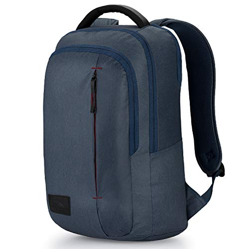 High Sierra Business Slim Pack Laptop Backpack, One Size, Rustic Blue Heather/Chili Pepper