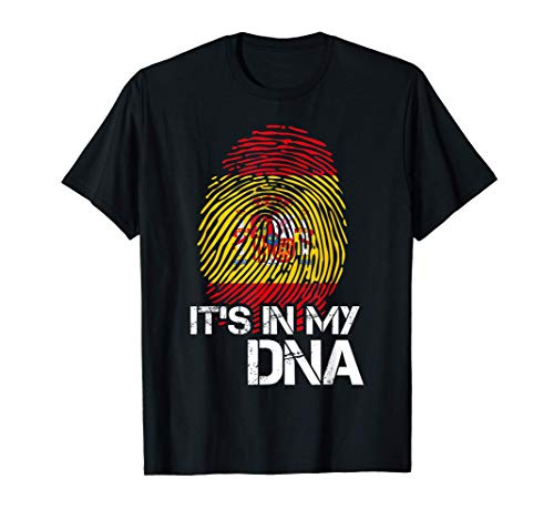 Orgulloso ADN De Espaa Querida Patria Espaa Camiseta