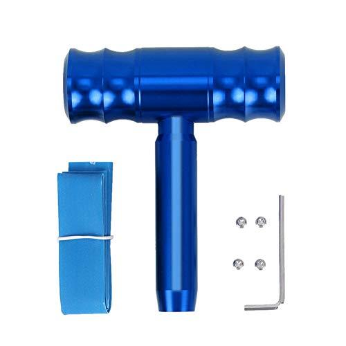 Gorgeri universele automatische schakelknop -12 mm Auto schakelknop vliegtuig aluminiumlegering besturing link Shaped Shift Vervangende schakelknop (rood/blauw) default blauw