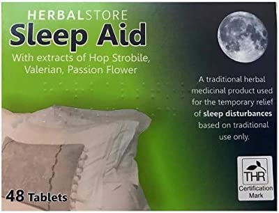 Sleep Aid Helps Sleep Insomnia Remedy 48 Tablets Sleep Disturbance Herbal Relief