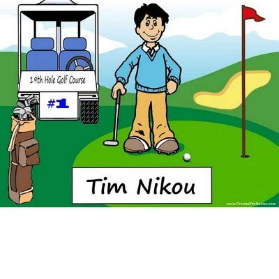 Amazon Com Personalized Golfing Male Download Print At Home Use Online Make Crafts Gifts Golfer Tournament Trophy Posters Prints