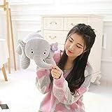 MYETO Tierisches Plüschtier, Plüschtier Elefant, Baby-Schlafkissen Kissen, Süße Plüsch-Elefant...