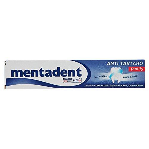 Mentadent - Dentifricio Anti Tartaro, Con Sali Minerali E Fluoro Attivo - 75 Ml - [pacco da 8]