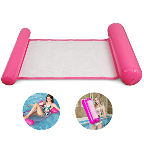 Hamaca hinchable de agua de HAINIWER para adultos, rosa