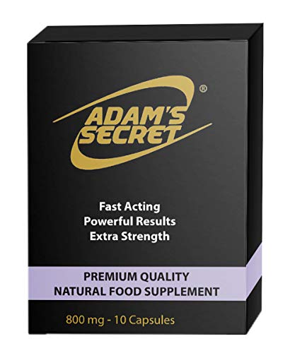 ADAM'S SECRET Ultra Strong Male Energy Enhancing Pills - Natural Amplifier for Performance, Energy and Endurance - Effective Food Supplement for Men (10 Capsules)