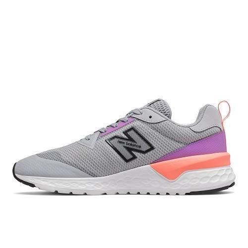 New Balance 515v2 Damen Sneaker, Grau - Nerz, Silber, Lila, Leuchtrosa, Ingwer - Größe: 38 EU Ancho