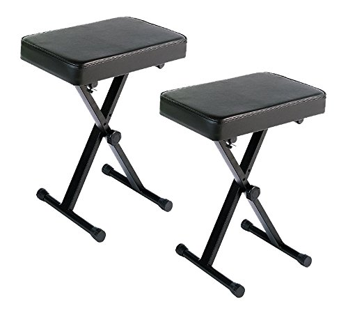 YAMAHA PKBB1 Adjustable Padded Keyboard X-Style Bench, Black,19.5 Inches