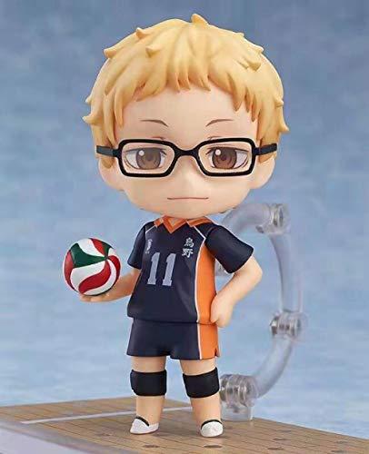 Kei Tsukishima / Ushijima Wakatoshi Figura 10 cm Versión Q Figura Anime Haikyuu !! Figura de acción Modelo Coleccionable muñeca de Juguete Regalo para niños-Kei Tsukishima