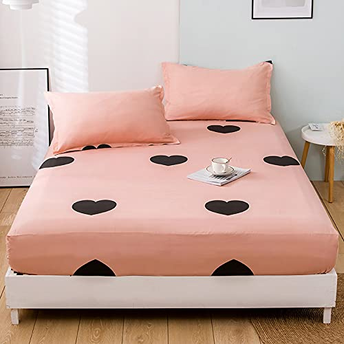 HAIBA Las sábanas ajustadas son suaves, frescas y refrescantes, sábanas totalmente estiradas y ajustadas, 100% lujosas, 180 x 200 cm + 25 cm.