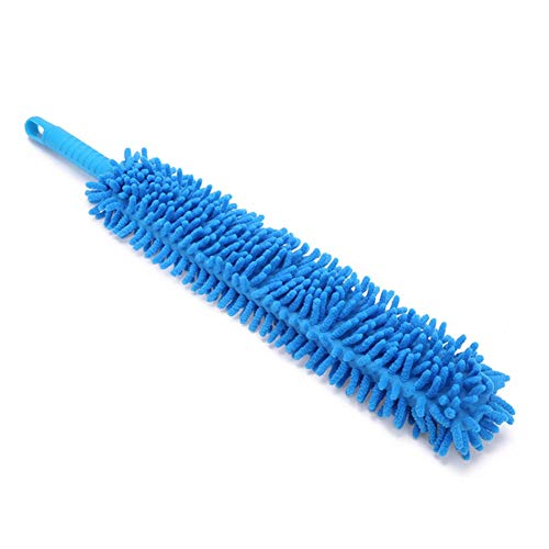 LKCGXRM Accesorios Azules Flexibles del Lavado de Coches del Limpiador de Ruedas de la Microfibra del Cepillo del Lavado de Coches