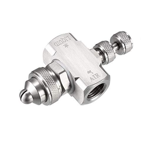 Boquilla de atomización de aire DyniLao, boquillas de boquilla de pulverización de abanico plano de baja presión de nebulización de 1 / 4BSPT