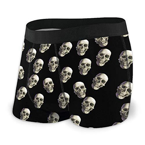 AOOEDM Skull Wallpaper Herren Atmungsaktive Unterwäsche Stretch Bund Boxershorts Kurzes Bein
