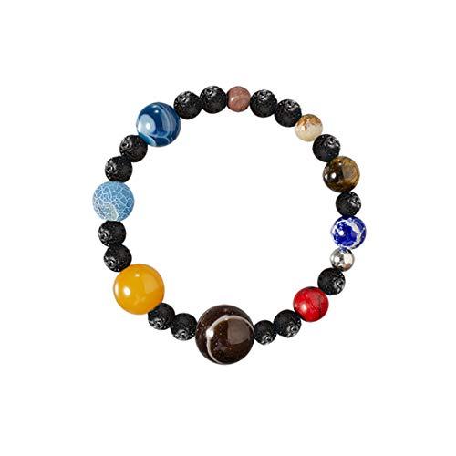 Happyyami Planet Stein Armband Valentinstag Schmuck Armreif für Frau Mann