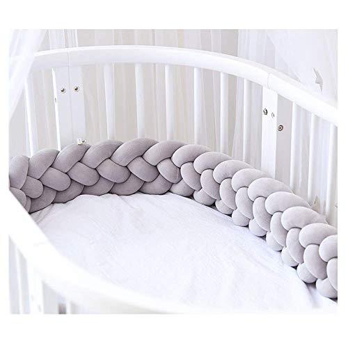 4 Weben Bettumrandung Baby Krippestoß Stange Krippe Baby Nestchenschlange Kopfschutz,verfürgbar für Babybett Bettausstattung Kinderbett Stoßstange in 220CM