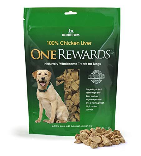 One Rewards Freeze Dried Dog Treats, Chicken Liver, 20 oz.