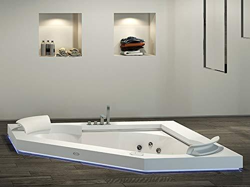 Jacuzzi Aura Corner 160 Corian bañera de hidromasaje empotrada 9443740